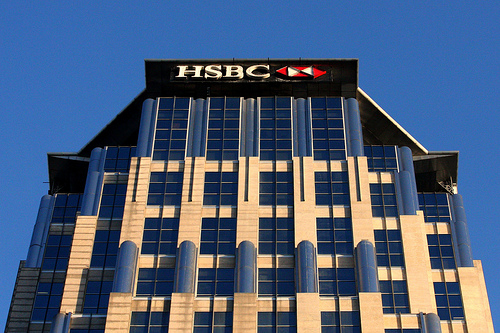HSBC signage at the Enterprise Center