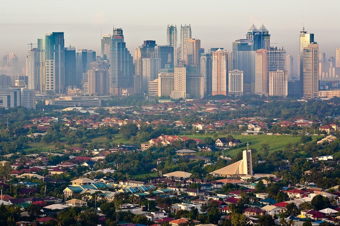 Ortigas Center, view from above Pasig City