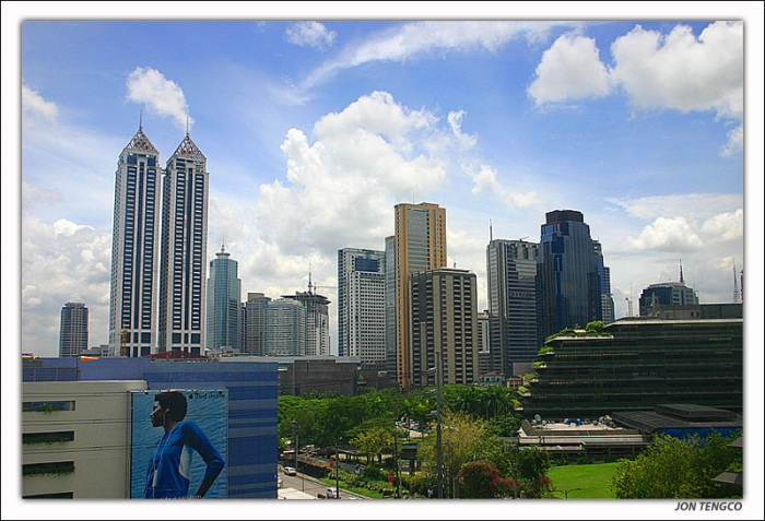 Ortigas Center, view from EDSA Shangri-La Hotel
