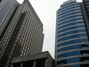 Ayala Life-FGU Center and Multinational Bancorp. Center