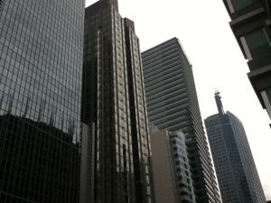 Facades of Ayala Avenue skyscrapers