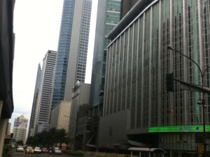 View of Ayala Avenue from Paseo de Roxas
