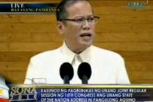Pangulong Pnoy Aquino III sa kanyang ikalawang SONA