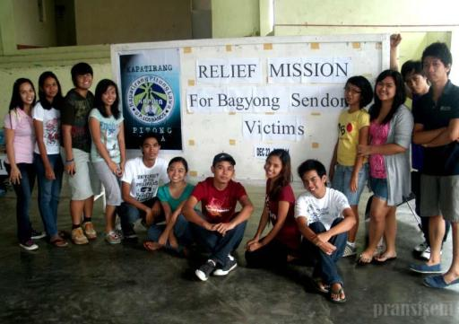 KAPWA sa UPLB resident members at the last day of their donation collection