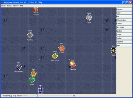 Robocode battle screenshot
