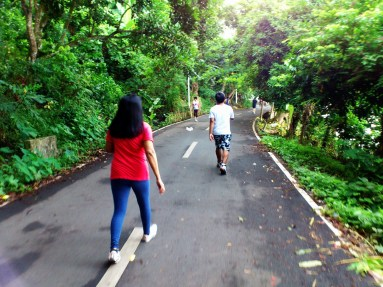 Jogging with parents